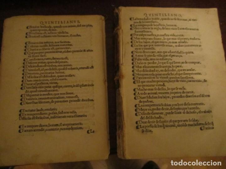 Libros antiguos: Post incunable Primera parte de las sentencias por diversos autores escriptas 1554 - Joya colección - Foto 12 - 146688410