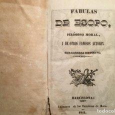 Libros antiguos: FÁBULAS DE ESOPO. BARCELONA, 1841. Lote 147586258