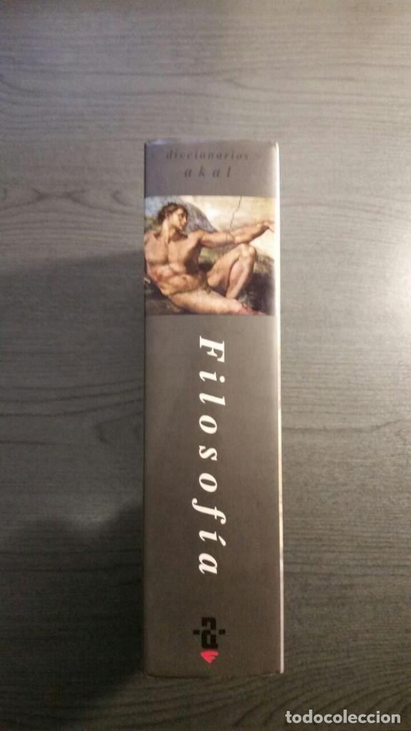 Libros antiguos: Diccionario Akal de Filosofía - Foto 3 - 147776498