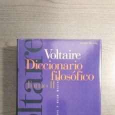 Libros antiguos: VOLTAIRE - DICCIONARIO FILOSÓFICO . 2 TOMOS MAS ESTUCHE . TEMAS DE HOY. Lote 147776938