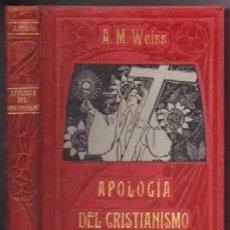 Libros antiguos: APOLOGIA DEL CRISTIANISMO - PARTE V - TOMO II. FILOSOFIA DE LA PERFECCION - WEISS, ALBERTO MARIA - . Lote 147913634