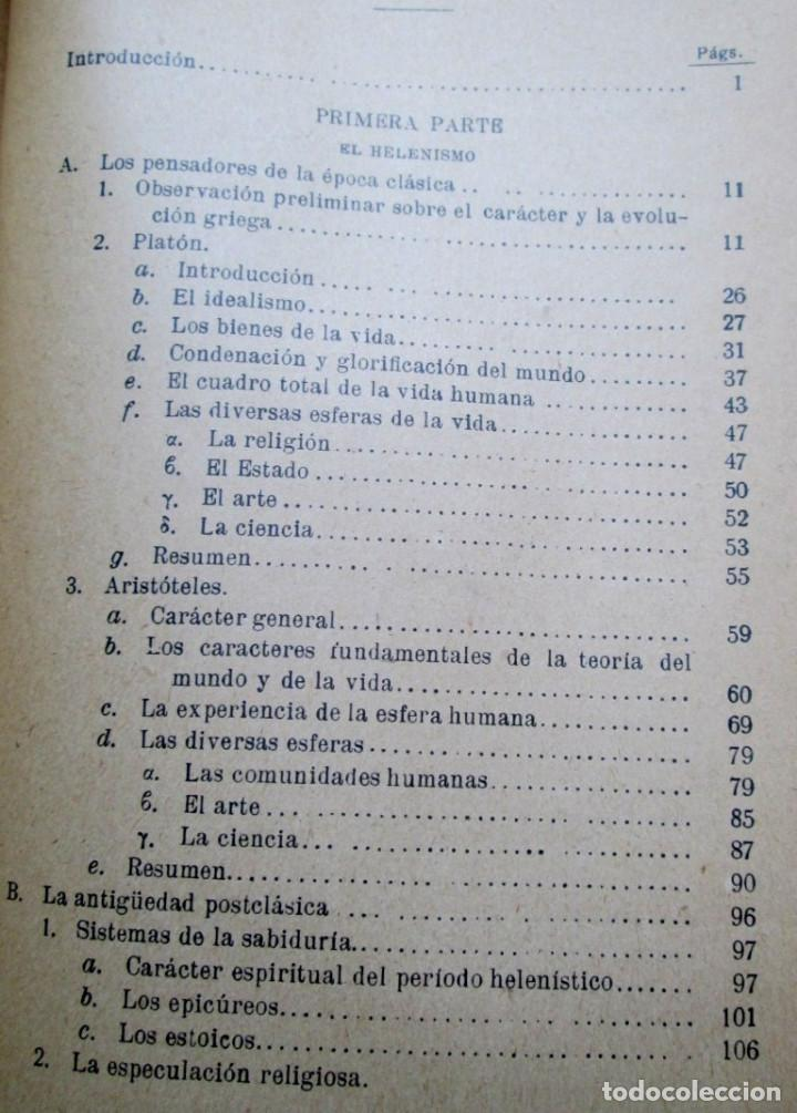 Libros antiguos: LOS GRANDES PENSADORES SU TEORÍA DE LA VIDA - Por Rodolfo Eucken 1914 - Foto 4 - 149501862