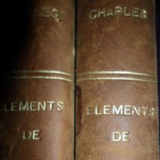 Libros antiguos: ELEMENTS DE PHILOSOPHIE, M. EM. CHARLES, 2 TOMOS, PARÍS, 1884, EN FRANCÉS. Lote 150252430