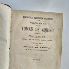 Libros antiguos: TEODICEA TOMO I Y II DE TOMÁS DE AQUINO Y EPISTOLAS SELECTAS DE SAN GERÓNIMO.. Lote 150338970