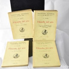 Libros antiguos: FILOSOFÍA DEL ARTE-H. TAINE- 4 TOMOS-1922- MAD.- C.A.L.P.E.COLECCIÓN UNIVERSAL, . Lote 151896934