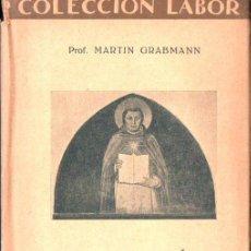 Libros antiguos: GRABMANN : FILOSOFÍA MEDIEVAL (LABOR, 1928). Lote 152271582