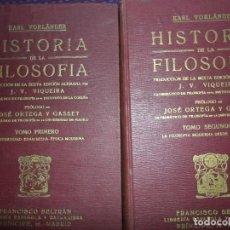 Libri antichi: HISTORIA DE LA FILOSOFÍA, KARL VORLÄNDER, 2 TOMOS, ED. FRANCISCO BELTRÁN, 1922. Lote 153854622