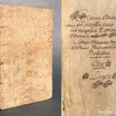 Libros antiguos: 1782 - CURSUS PHILOSOPHICUS - LIBRO MANUSCRITO DE FILOSOFIA - LÓGICA - 218 PÁGINAS -. Lote 154257130