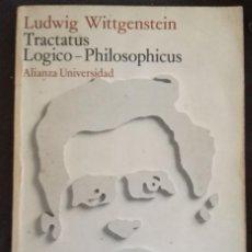 Livres anciens: L. WITTGENSTEIN. TRATATUS LOGICO-PHILOSOPHICUS. ED. ALIANZA UNIVERSIDAD. Lote 155020098