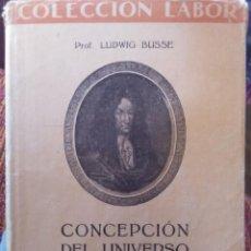Libros antiguos: CONCEPCIÓN DEL UNIVERSO. Lote 158908114