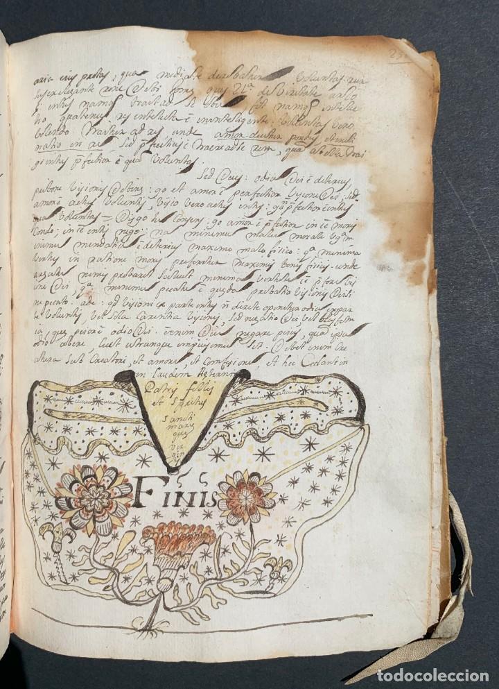 Libros antiguos: XVIII - Libro Manuscrito - 250 páginas - Physica abs ad Mente Drs Aci Cocinaa - Foto 6 - 161379922