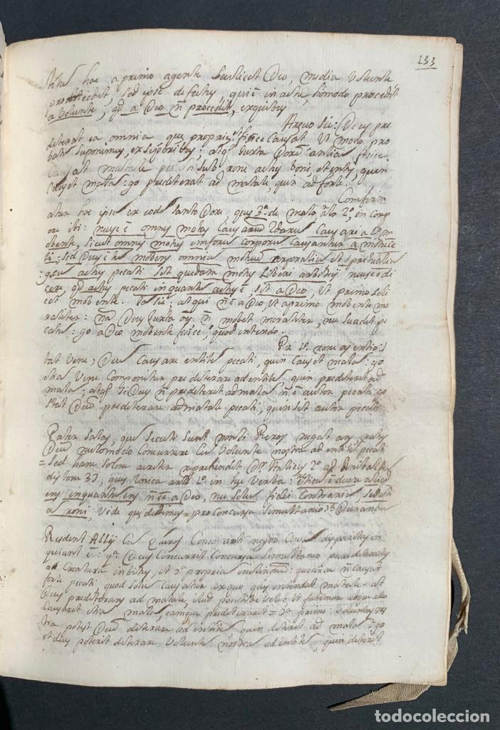 Libros antiguos: XVIII - Libro Manuscrito - 250 páginas - Physica abs ad Mente Drs Aci Cocinaa - Foto 8 - 161379922