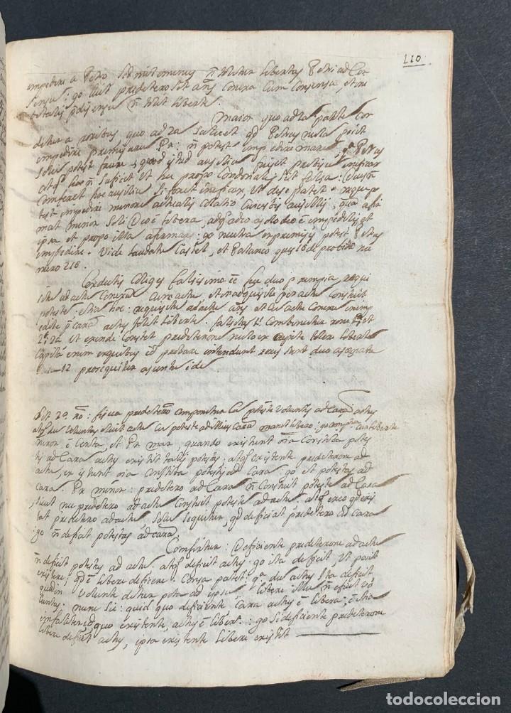 Libros antiguos: XVIII - Libro Manuscrito - 250 páginas - Physica abs ad Mente Drs Aci Cocinaa - Foto 9 - 161379922