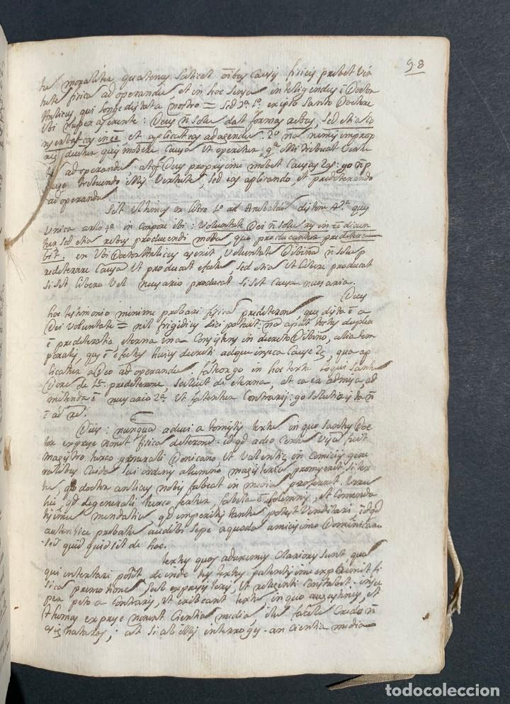 Libros antiguos: XVIII - Libro Manuscrito - 250 páginas - Physica abs ad Mente Drs Aci Cocinaa - Foto 10 - 161379922