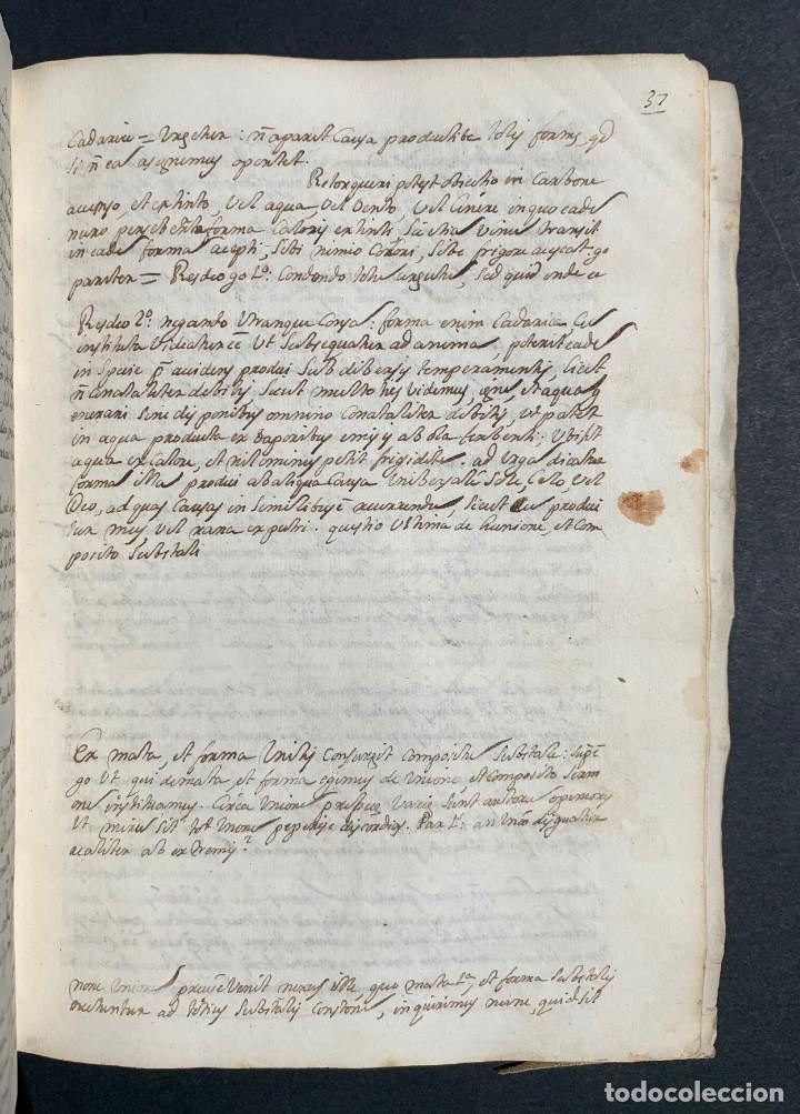 Libros antiguos: XVIII - Libro Manuscrito - 250 páginas - Physica abs ad Mente Drs Aci Cocinaa - Foto 11 - 161379922