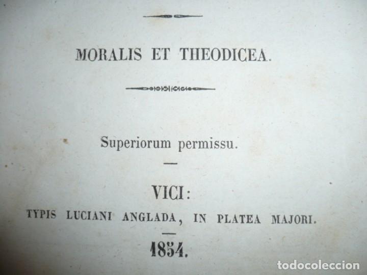 Libros antiguos: ELEMENTA PHILOSOPHIAE ADOLESCENTUM USIBUS GERVASIO COSTA 1854 VICI - Foto 4 - 161727266