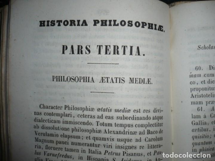 Libros antiguos: ELEMENTA PHILOSOPHIAE ADOLESCENTUM USIBUS GERVASIO COSTA 1854 VICI - Foto 10 - 161727266