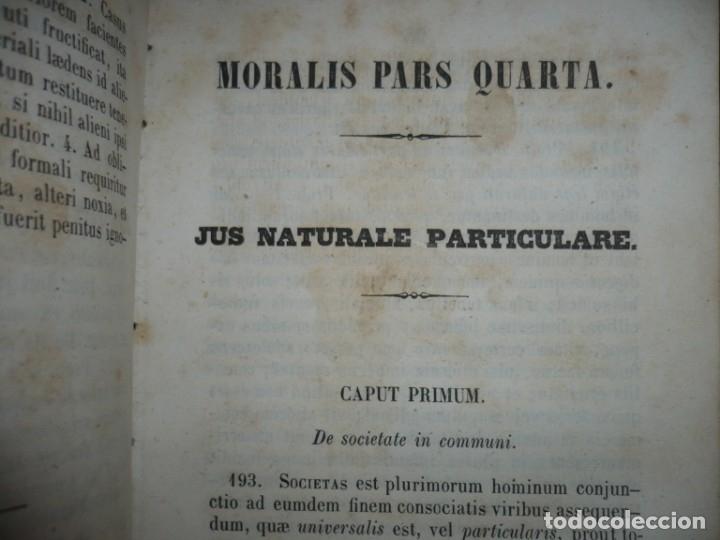 Libros antiguos: ELEMENTA PHILOSOPHIAE ADOLESCENTUM USIBUS GERVASIO COSTA 1854 VICI - Foto 7 - 161727266