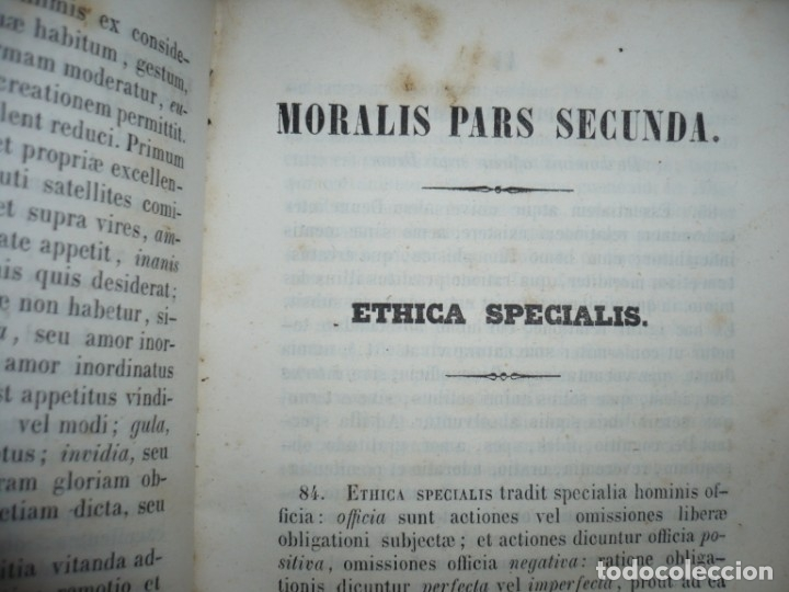 Libros antiguos: ELEMENTA PHILOSOPHIAE ADOLESCENTUM USIBUS GERVASIO COSTA 1854 VICI - Foto 8 - 161727266