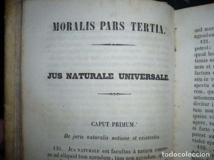 Libros antiguos: ELEMENTA PHILOSOPHIAE ADOLESCENTUM USIBUS GERVASIO COSTA 1854 VICI - Foto 6 - 161727266