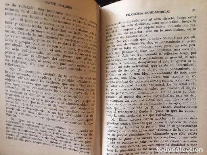 Libros antiguos: Filosofía Fundamental, de Jaime Balmes, 2 tomos - Foto 2 - 162484658