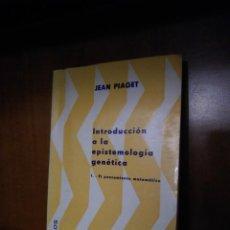 Libros antiguos: INTRODUCCIÓN A LA EPISTEMOLOGÍA GENÉTICA - JEAN PIAGET - EDITORIAL PAIDOS - BUENOS AIRES (1975). Lote 167880536