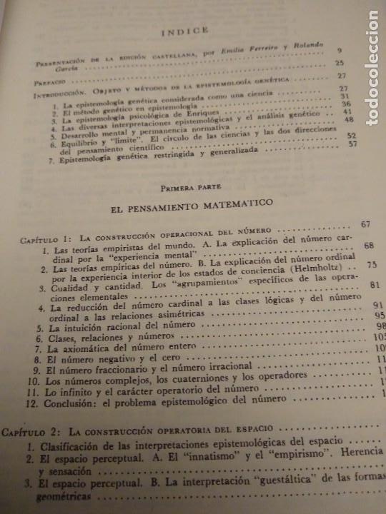 Libros antiguos: INTRODUCCIÓN A LA EPISTEMOLOGÍA GENÉTICA - JEAN PIAGET - EDITORIAL PAIDOS - BUENOS AIRES (1975) - Foto 4 - 167880536