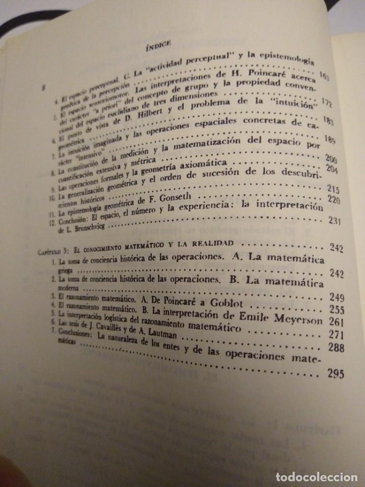 Libros antiguos: INTRODUCCIÓN A LA EPISTEMOLOGÍA GENÉTICA - JEAN PIAGET - EDITORIAL PAIDOS - BUENOS AIRES (1975) - Foto 5 - 167880536