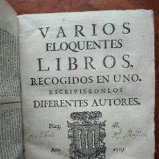 Libros antiguos: PERGAMINO 1729. VARIOS ELOCUENTES LIBROS RECOGIDOS EN UNO.AGUILAR. POLO DE MEDINA.... HERÁCLITO.. Lote 167884881