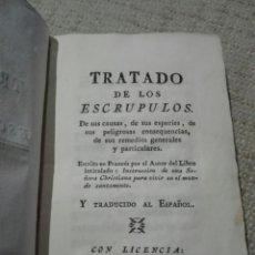 Libros antiguos: PERGAMINO. 1777. TRATADO DE LOS ESCRÚPULOS. MORAL. FILOSOFÍA. Lote 168032610