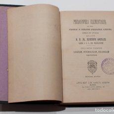 Libros antiguos: PHILOSOPHIA ELEMENTARIA. FR. ZEPHYRINI GONZALEZ. VOLUMEN PRIMUN. 7ª EDICION. 1894.. Lote 168102424