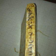 Libros antiguos: 1721. PERGAMINO. AGUDEZAS DE JUAN OVEN. JHON OWEN.. Lote 168129294