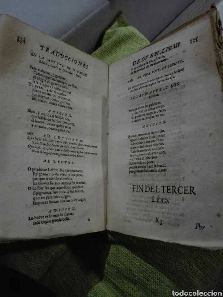 Libros antiguos: 1721. Pergamino. AGUDEZAS DE JUAN OVEN. Jhon Owen. - Foto 4 - 168129294