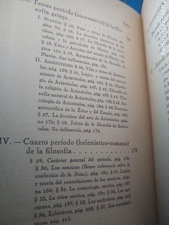 Libros antiguos: FILOSOFÍA ANTIGUA Y MEDIEVAL - AUGUSTO MESSER - REVISTA DE OCCIDENTE - MADRID (1927) - Foto 5 - 168181952