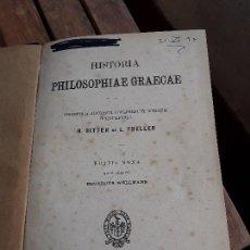 Libros antiguos: HISTORIA PHILOSOPHAE GRAECAE, DE RITTER ET PRELLER 1913. EN LATÍN Y GRIEGO.. Lote 168279844
