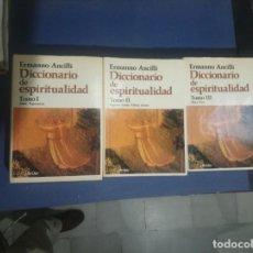Libros antiguos: 1983 DICCIONARIO DE ESPIRITUALIDAD DIRIGIDO POR ERMANNO ANCILLI EDITORIAL HERDER. Lote 168366888
