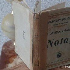 Libros antiguos: NOTAS. J. ORTEGA Y GASSET. ESPASA CALPE. Lote 168689592
