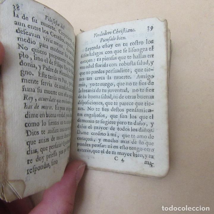 Libros antiguos: Pequeño libro siglo XVII 1682 filosofía del verdadero cristiano - Foto 5 - 169190580
