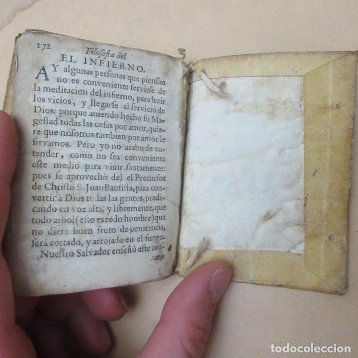 Libros antiguos: Pequeño libro siglo XVII 1682 filosofía del verdadero cristiano - Foto 7 - 169190580