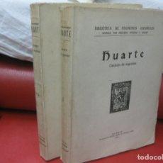 Libros antiguos: HUARTE. EXAMEN DE INGENIOS. 2 VOL. IMP. LA RAFA 1930. BIBLIOTECA DE FILOSOFOS ESPAÑOLES. . Lote 170162044