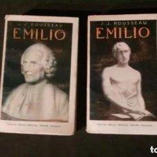 Libros antiguos: EMILIO-JEAN-JACQUES ROUSSEAU-2 TOMOS-COMPLETA-EDITORIAL MAUCCI, 1914. Lote 171025305