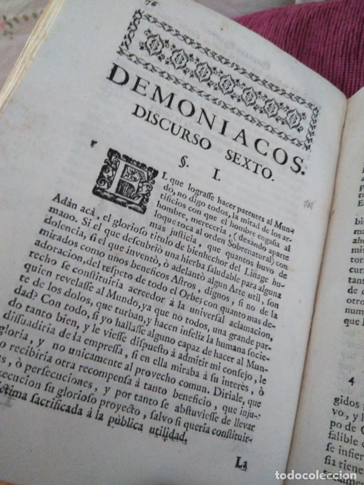 Libros antiguos: 1759. Feyjoo. Theatro crítico universal. Tomo octavo. Demoníacos agricultura paradoxas sofismas - Foto 6 - 171987559