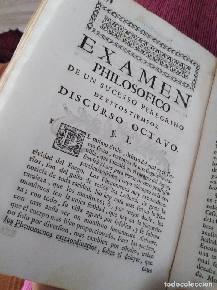 Libros antiguos: 1759. Feyjoo. Theatro crítico universal. Tomo octavo. Demoníacos agricultura paradoxas sofismas - Foto 8 - 171987559