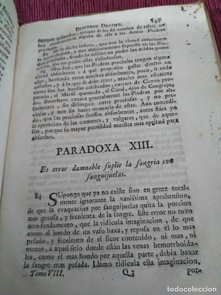 Libros antiguos: 1759. Feyjoo. Theatro crítico universal. Tomo octavo. Demoníacos agricultura paradoxas sofismas - Foto 9 - 171987559