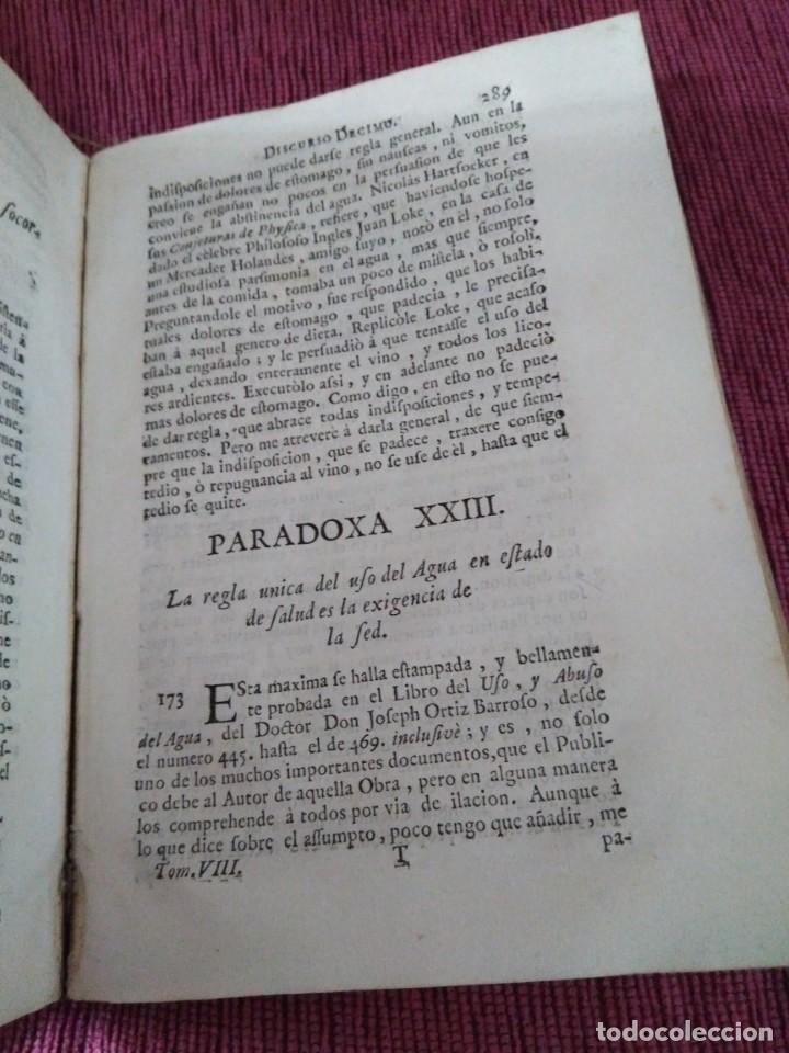 Libros antiguos: 1759. Feyjoo. Theatro crítico universal. Tomo octavo. Demoníacos agricultura paradoxas sofismas - Foto 10 - 171987559