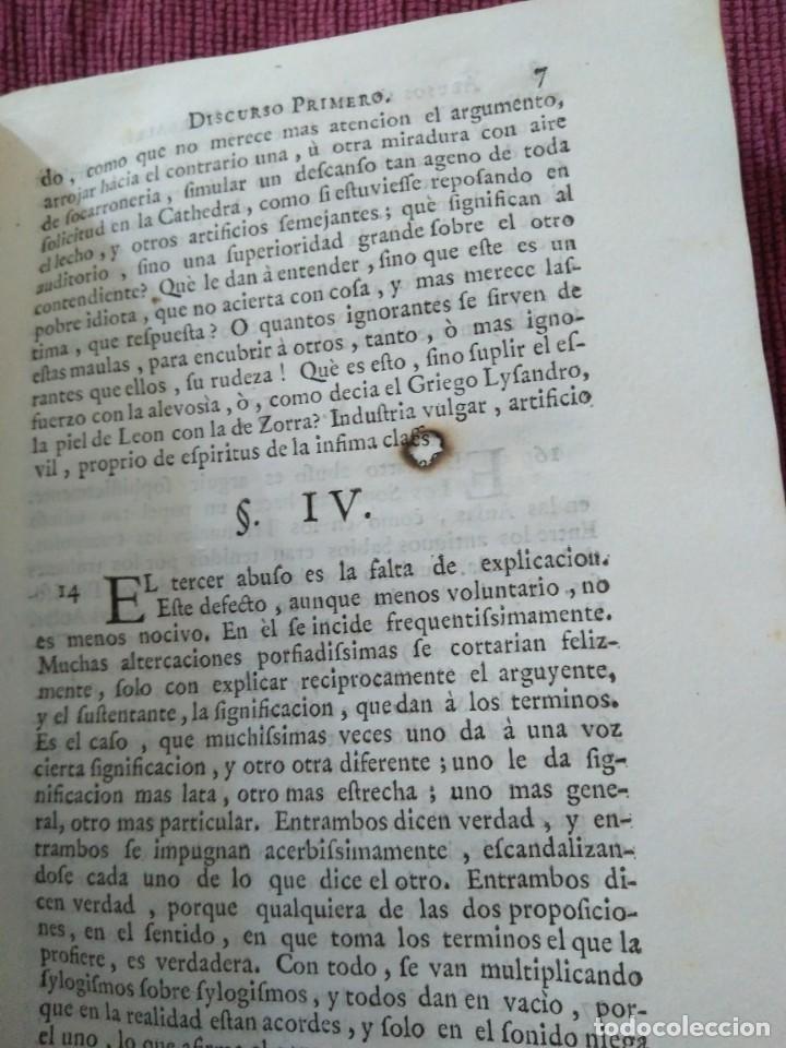 Libros antiguos: 1759. Feyjoo. Theatro crítico universal. Tomo octavo. Demoníacos agricultura paradoxas sofismas - Foto 24 - 171987559