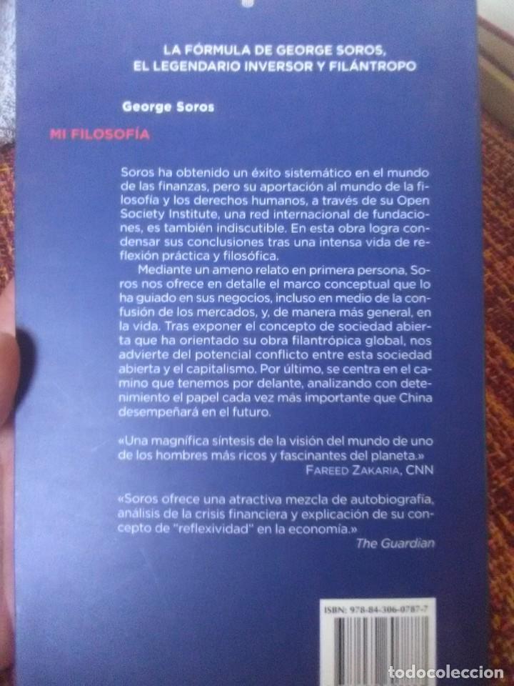 Libros antiguos: George Soros Mi Filosofía - Foto 2 - 172098540