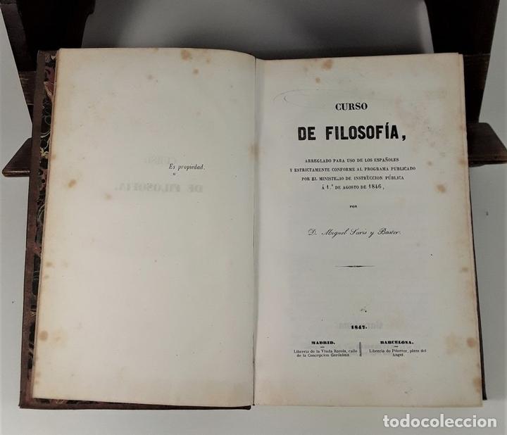 Libros antiguos: CURSO DE FILOSOFÍA. MIGUEL SURIS Y BASTER. LIBRERIA DE PIFERRER. BARCELONA. 1847. - Foto 4 - 172220142