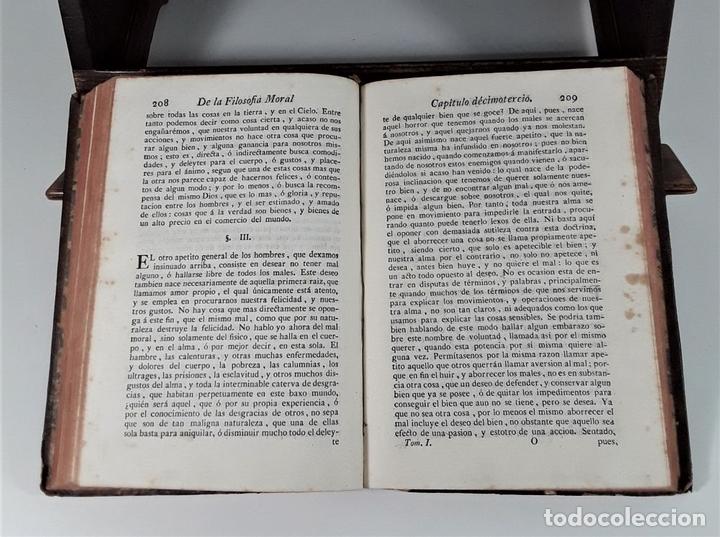 Libros antiguos: LA FILOSOFÍA MORAL DECLARADA Y PROPUESTA A LA JUVENTUD. TOMOS I Y II. MADRID.1780. - Foto 6 - 172282254