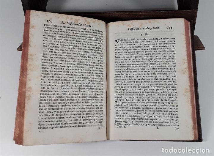 Libros antiguos: LA FILOSOFÍA MORAL DECLARADA Y PROPUESTA A LA JUVENTUD. TOMOS I Y II. MADRID.1780. - Foto 8 - 172282254